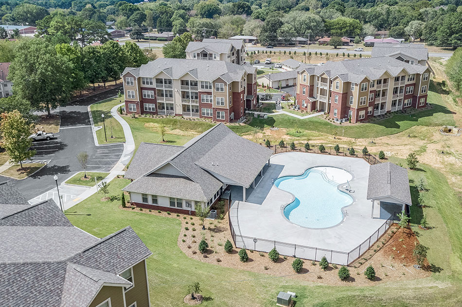 Aerial View of The Glen Apartment Homes Cartersville Georgia